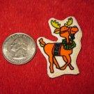 1970's Christmas Themed Refrigerator Magnet: Reindeer
