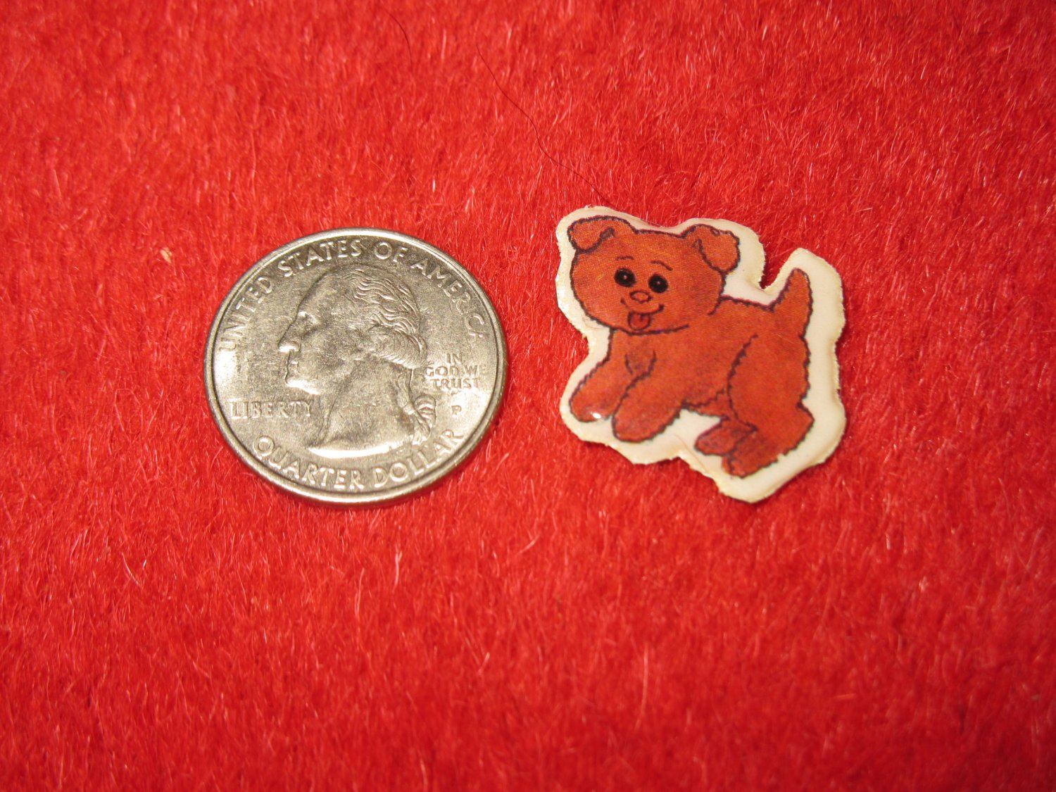1980's Cartoon Animals Series Refrigerator Magnet: Puppy