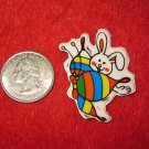 1980's Cartoon Rainbow Series Refrigerator Magnet: Rabbit & Butterfly