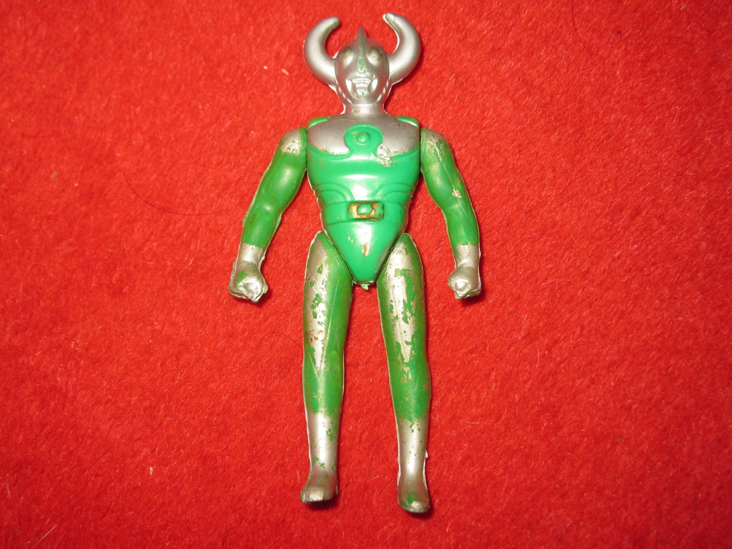 older unknown Green/ Silver Japanese Style Action Figure
