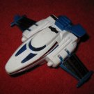 vintage SL Uk design USAF Friction Action Jet Plane - White & Blue #1011342