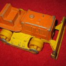 "Vintage Tootsietoy Bull Dozer solid Metal Orange & Yellow toy, 5"" long, heavy"