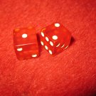1952 Monopoly Popular Ed. Board Game Piece: Miniature Red Dice Set