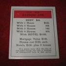 1952 Monopoly Popular Ed. Board Game Piece: Illinois Ave - Title Deed