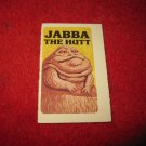 1983 Star Wars; Battle at Sarlacc's Pit Board Game Piece: Jabba the Hutt Game Card