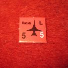 1988 The Hunt for Red October Board Game Piece: Backfr red Square Counter