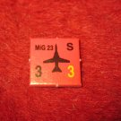 1988 The Hunt for Red October Board Game Piece: MIG 23 red Square Counter