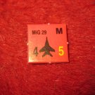 1988 The Hunt for Red October Board Game Piece: MIG 29 red Square Counter