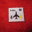 1988 The Hunt for Red October Board Game Piece: S Etan. blue Square Counter