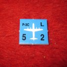 1988 The Hunt for Red October Board Game Piece: P-3C blue Square Counter