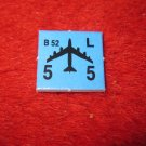 1988 The Hunt for Red October Board Game Piece: B-52 blue Square Counter