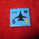 1988 The Hunt for Red October Board Game Piece: F-14 blue Square Counter