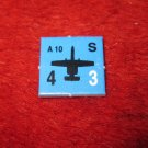 1988 The Hunt for Red October Board Game Piece: A-10 blue Square Counter