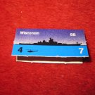 1988 The Hunt for Red October Board Game Piece: Wisconsin Blue Ship Tab- NATO