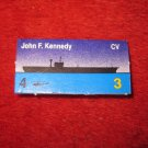 1988 The Hunt for Red October Board Game Piece: John F. Kennedy Blue Ship Tab- NATO