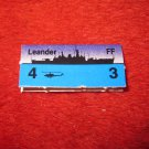 1988 The Hunt for Red October Board Game Piece: Leander Blue Ship Tab- NATO