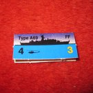 1988 The Hunt for Red October Board Game Piece: Type A-69 Blue Ship Tab- NATO