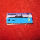 1988 The Hunt for Red October Board Game Piece: Spruance Blue Ship Tab- NATO