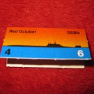 1988 The Hunt for Red October Board Game Piece: Red October Red Ship Tab- Soviet