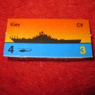 1988 The Hunt for Red October Board Game Piece: Kiev Red Ship Tab- Soviet