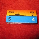 1988 The Hunt for Red October Board Game Piece: Akula Red Ship Tab- Soviet