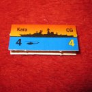 1988 The Hunt for Red October Board Game Piece: Kara Red Ship Tab- Soviet