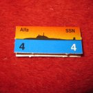 1988 The Hunt for Red October Board Game Piece: Alfa Red Ship Tab- Soviet