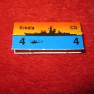 1988 The Hunt for Red October Board Game Piece: Kresta Red Ship Tab- Soviet