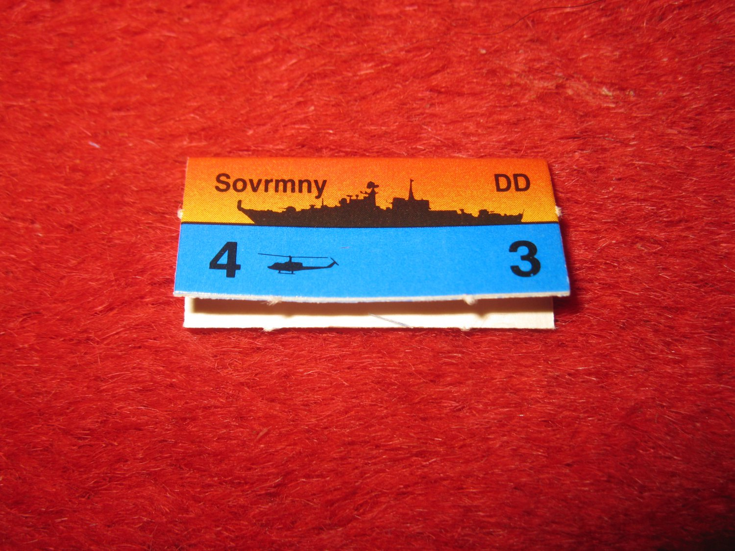 1988 The Hunt for Red October Board Game Piece: Sovrmny Red Ship Tab- Soviet