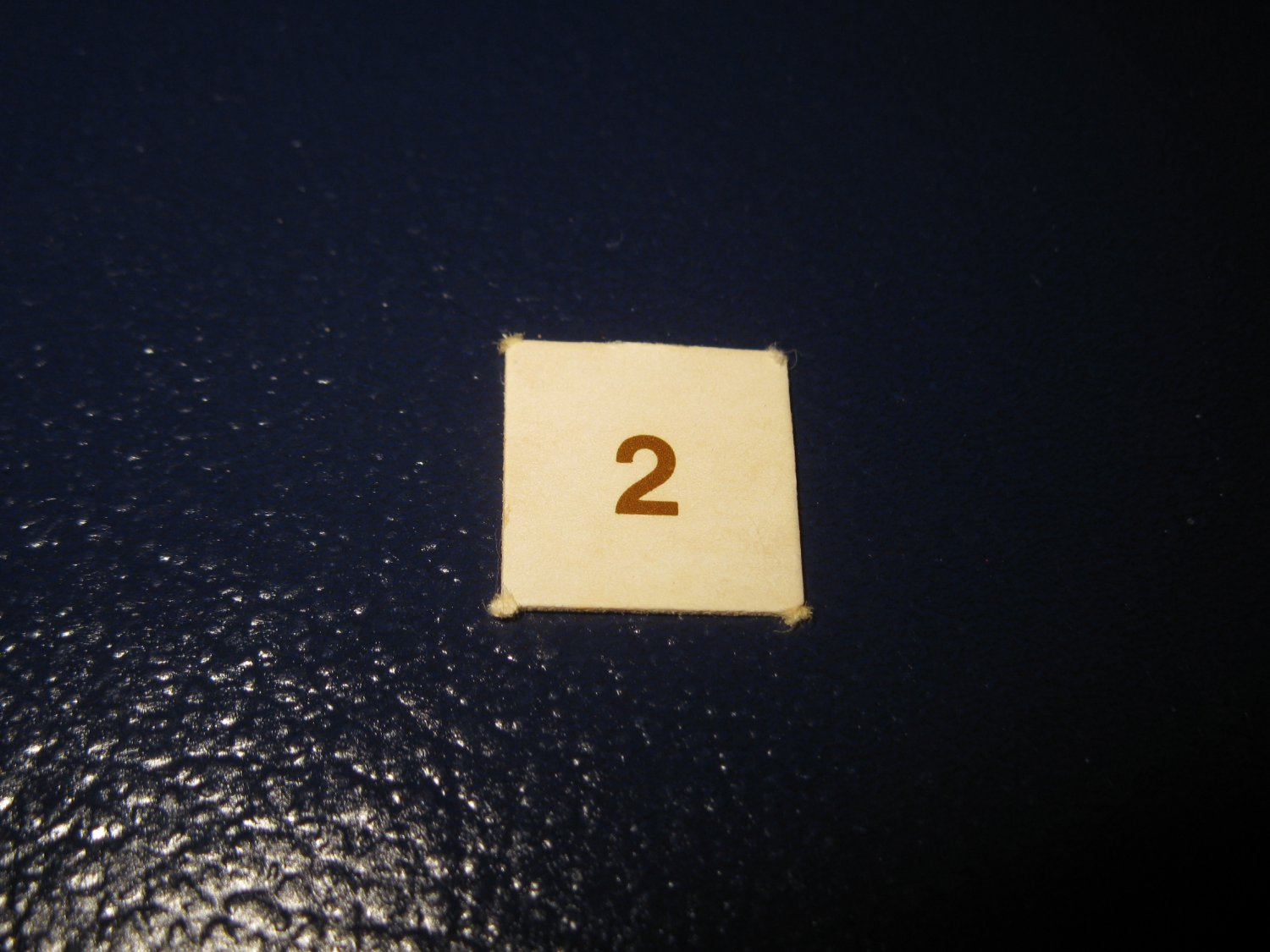 1980 TSR D&D: Dungeon Board Game Piece: #2 Square Marker