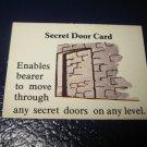 1980 TSR D&D: Dungeon Board Game Piece: Treasure 3rd Level Card- Secret Door