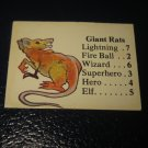 1980 TSR D&D: Dungeon Board Game Piece: Monster 1st Level - Giant Rats