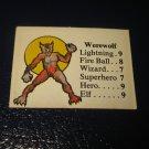 1980 TSR D&D: Dungeon Board Game Piece: Monster 3rd Level - Werewolf