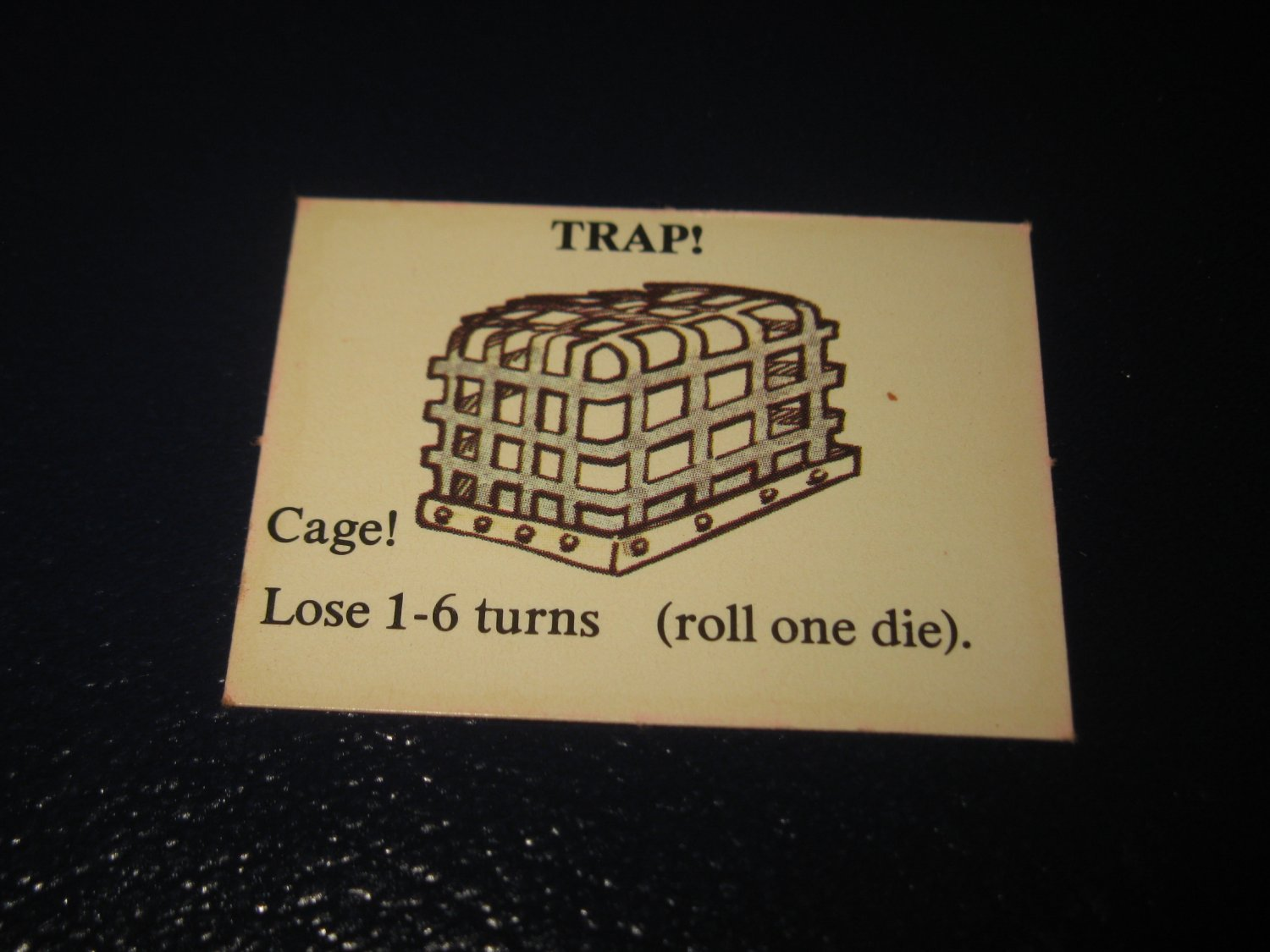 1980 TSR D&D: Dungeon Board Game Piece: Monster 4th Level - Trap!