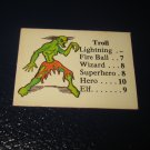 1980 TSR D&D: Dungeon Board Game Piece: Monster 4th Level - Troll