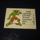 1980 TSR D&D: Dungeon Board Game Piece: Monster 5th Level - Troll
