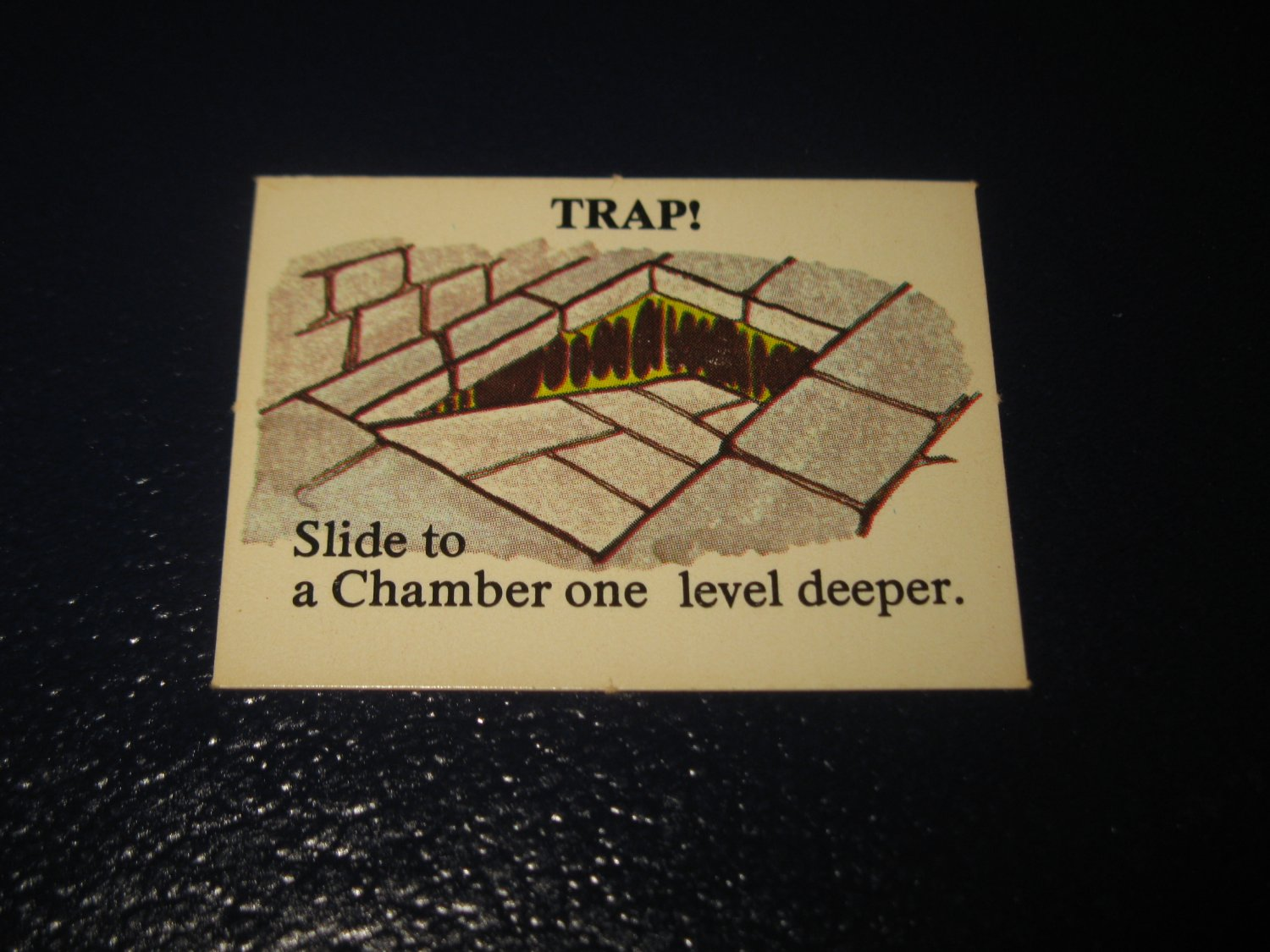 1980 TSR D&D: Dungeon Board Game Piece: Monster 5th Level - Trap!