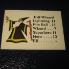 1980 TSR D&D: Dungeon Board Game Piece: Monster 6th Level - Evil Wizard