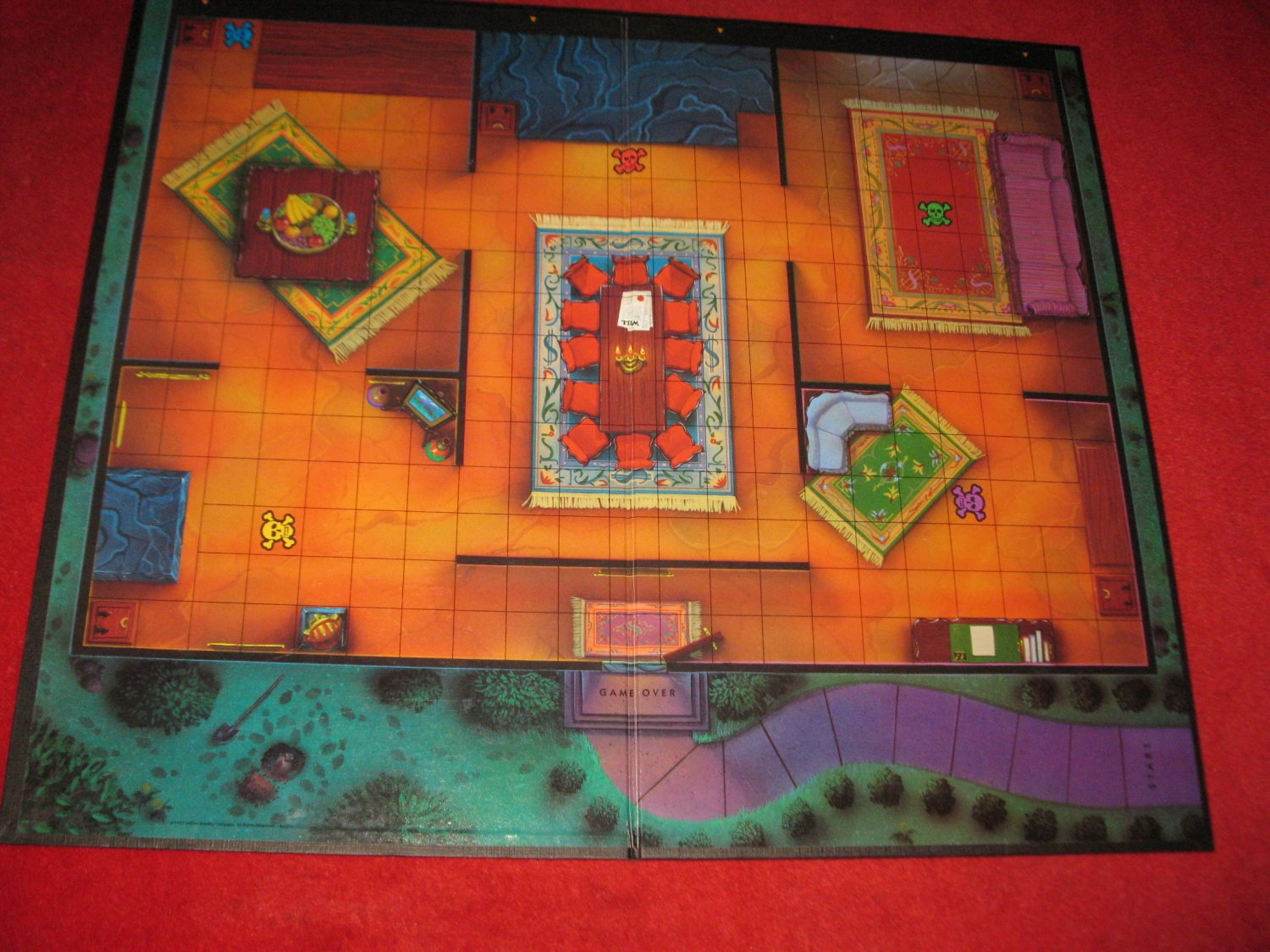 1993 - 13 Dead End Drive Board Game Piece: Game Board