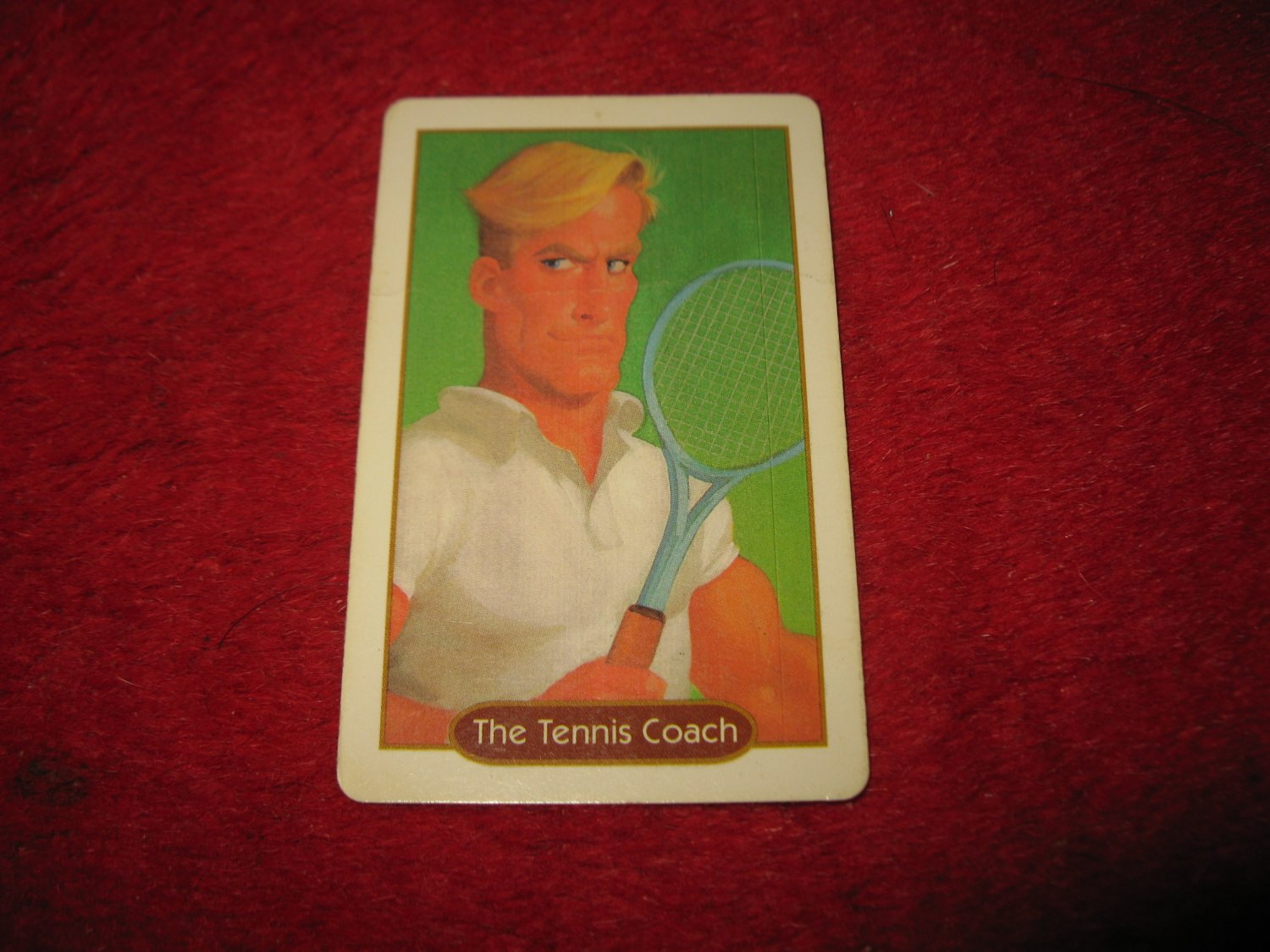 1993 - 13 Dead End Drive Board Game Piece: The Tennis Coach Character Card