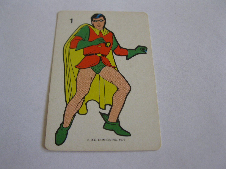 1977 DC Comics Game Card #1: Robin the Boy Wonder