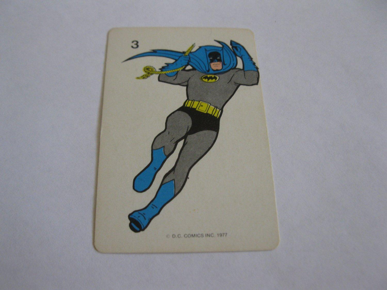 1977 DC Comics Game Card #3: Batman