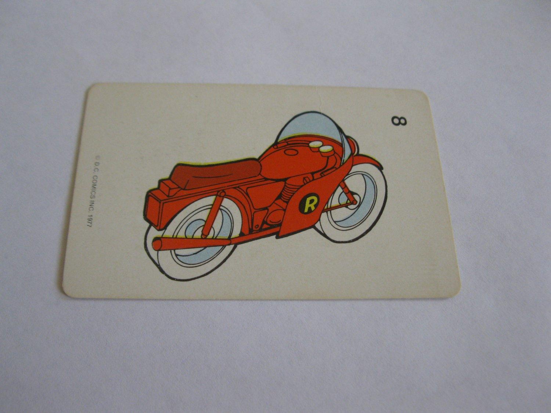 1977 DC Comics Game Card #8: The Robin-Cycle