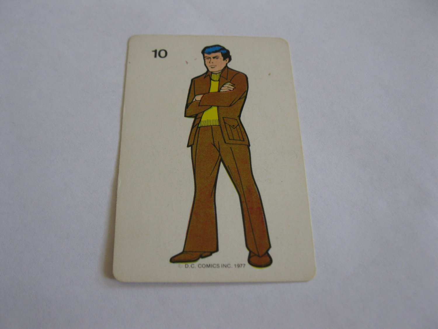 1977 DC Comics Game Card #10: Bruce Wayne