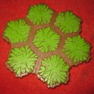 2004 - Heroscape Board Game Piece: Green Grass land 7-way hex tile