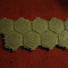 2004 - Heroscape Board Game Piece: Gray Granite Castle Land 9-way hex tile