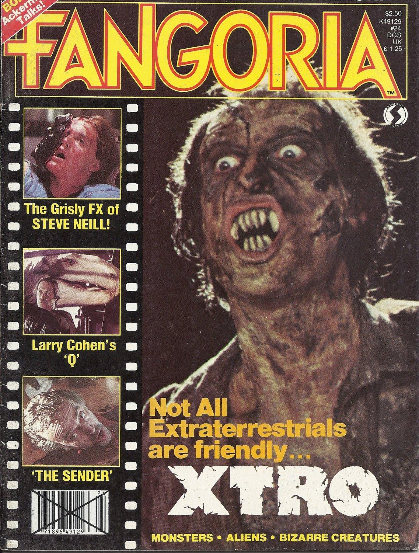 1982 Vintage Horror Magazine: Fangoria #24 - Xtro cover