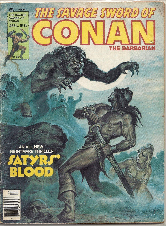 1980 Vintage Marvel comic book Magazine: The Savage Sword of Conan #51