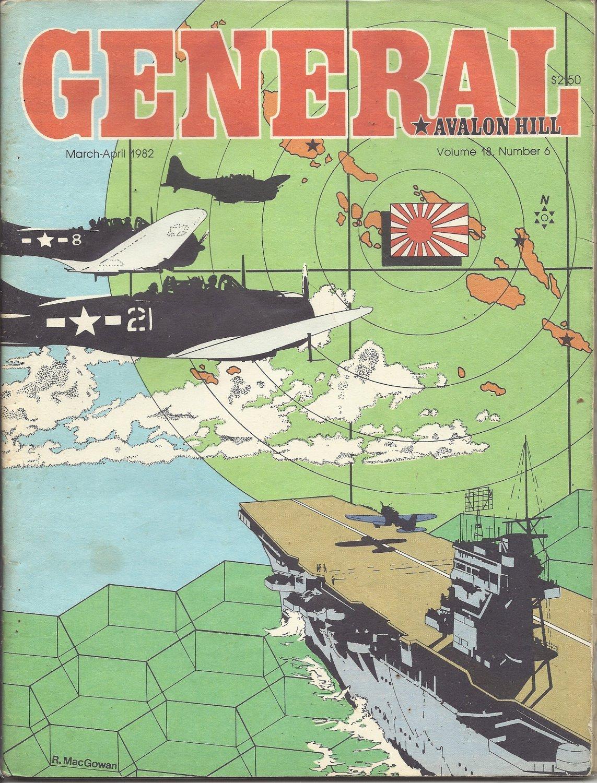 1982 Vintage Game Magazine: Avalon HIll- General Vol. 18 #6