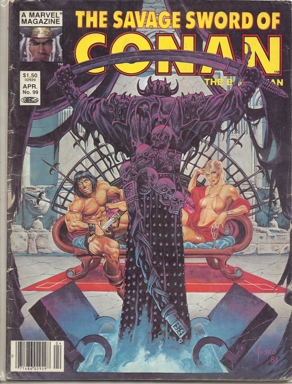 1984 Vintage Marvel comic book Magazine: The Savage Sword of Conan #99